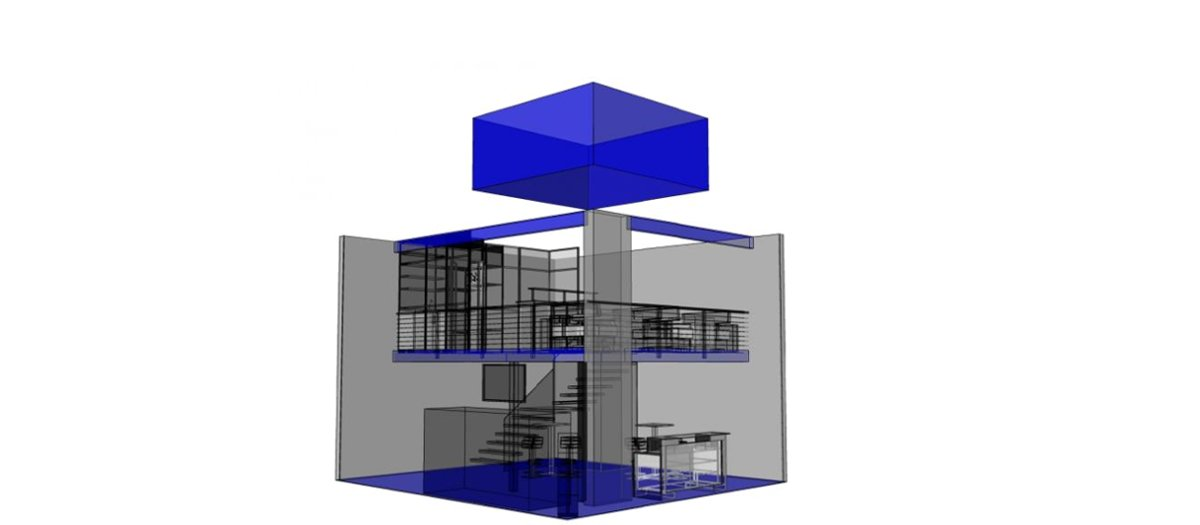 pc generiertes Schema des zweistöckigen Ishigashi Modells
